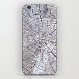 Ancient Tree Stump Grey With Age, Very Old Tree Stump iPhone Skin