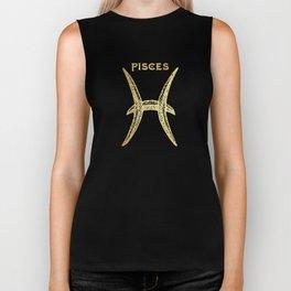 Pisces Zodiac Sign Biker Tank