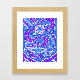 An Ottoman Iznik style floral design pottery polychrome, by Adam Asar, No 24b Framed Art Print