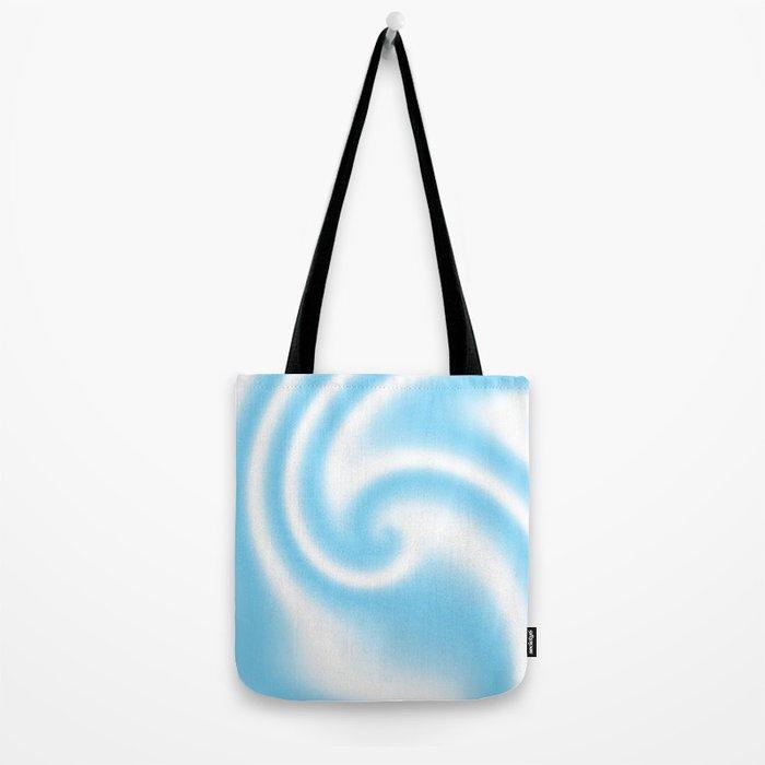 Blue Raspberry Ribbon Candy Fractal Tote Bag