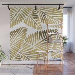 Tropical Banana Leaves – Gold Palette Wall Mural