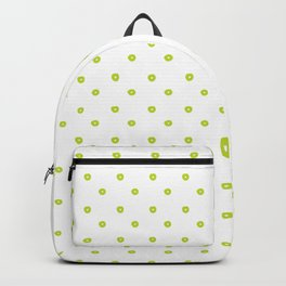 Handmade dots pattern in lime Backpack