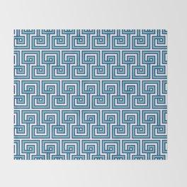 Greek Key - Turquoise Throw Blanket