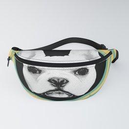 Frenchie Retro Disco Dog #3 #decor #art #society6 Fanny Pack