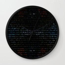 Dahlias + Journal Writing Overlay Wall Clock