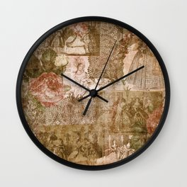 Vintage & Shabby Chic- Victorian ladies pattern Wall Clock