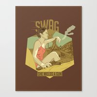 swag Canvas Prints featuring SWAG by RJ Artworks