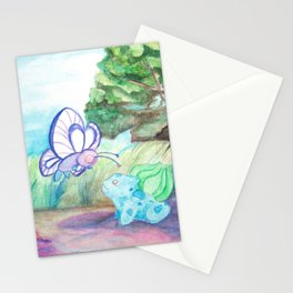 Butterfree And Bulba-saur Stationery Cards
