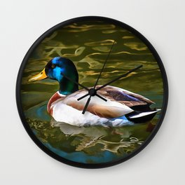 The Son Of A Duck Is A Floater Wall Clock