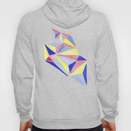 Watercolor colorful beach triangles. Watercolor geometry 3D effect. Hoody