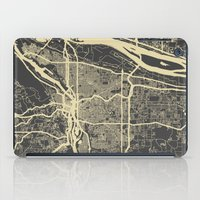 portland iPad Cases featuring Portland Map by Map Map Maps