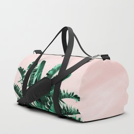 Turquoise Banana and palm Leaves Duffle Bag