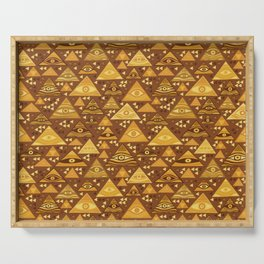 Klimt Triangles Serving Tray