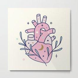 Anatomical Heart - magical illustration Metal Print