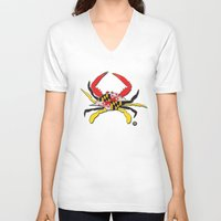 house md V-neck T-shirts featuring MD Crab by EBz Designs
