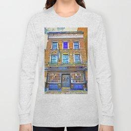 The Prospect Of Whitby Pub Pop Art Long Sleeve T-shirt