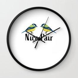 Nice Pair Bird watching Birding Gift Wall Clock