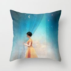 Night with a View Throw Pillow