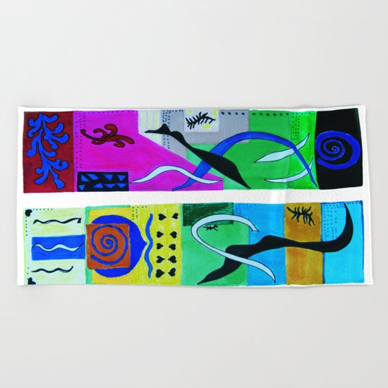 inspiration from Matisse Beach Towel