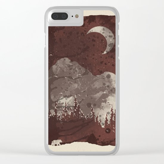 Winter Finds the Bear... Clear iPhone Case