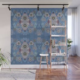 Antique Fractal Lace Print Wall Mural