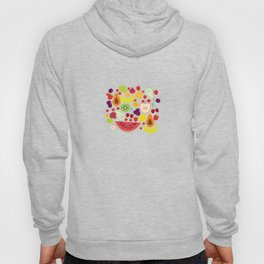 Healthy lifestyle. Fruits on white background Hoody