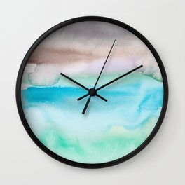 8   | Abstract Minimal Watercolor Painting | 191222 Wall Clock