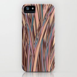 LYON pink peach turquoise brown glowing tall grass iPhone Case
