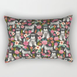 Schnauzer floral must have dog breed gifts for schnauzers owners florals Rectangular Pillow