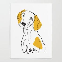 Dog Modern Line Art Poster