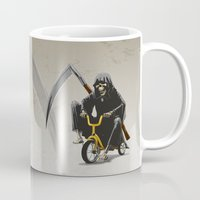 death Mugs featuring Death by Antracit