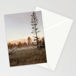 fall morning Stationery Cards