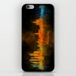 Moscow City Skyline art HQ v4 iPhone Skin
