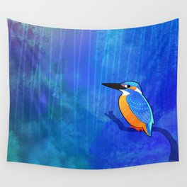 Common Kingfisher (Alcedo atthis) Wall Tapestry