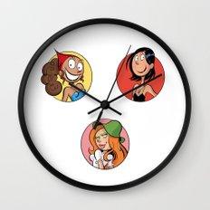 Motif de pastilles de Vicky, Karine et Jenny Wall Clock