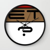 et Wall Clocks featuring ET? by TLineInc