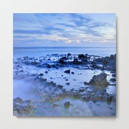 Blue sea. Sunset. Metal Print