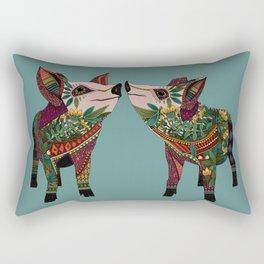 pig love jade Rectangular Pillow