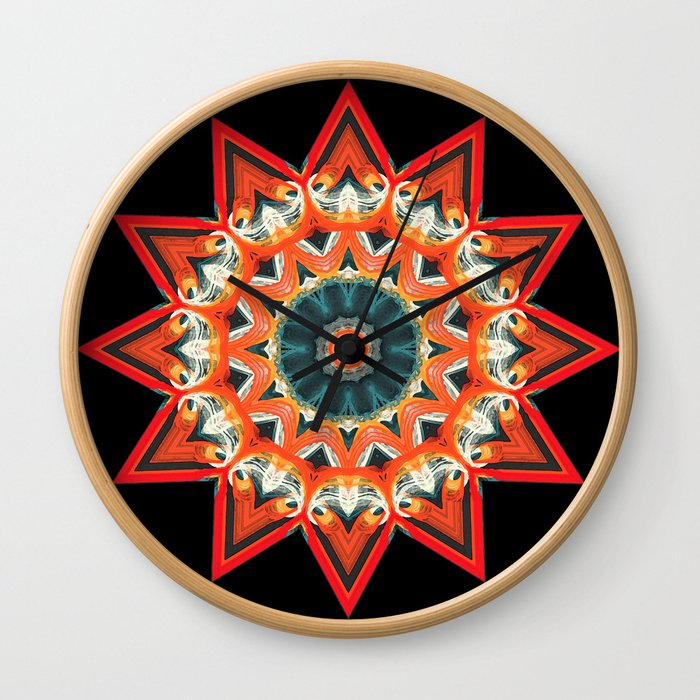 Southwest Kaleidoscope  Wall Clock