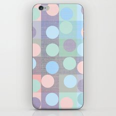 pastel circles in squares iPhone & iPod Skin