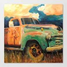 Harvest Truck Canvas Print