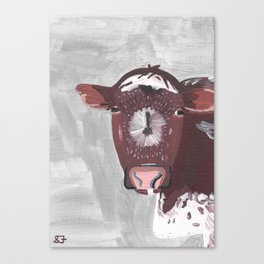 A Cow Named Frosty Canvas Print