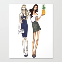 Best Friends Illustration Canvas Print