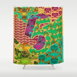 Tile 5 Shower Curtain