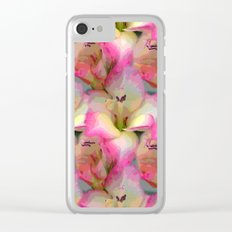 In the Flower Garden Clear iPhone Case