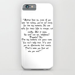 Buffy - Big Moments Quote iPhone Case