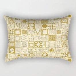 wolf geo gold ivory Rectangular Pillow