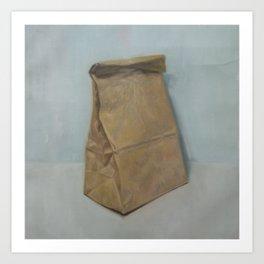 Schrödinger's bubble gum (brown paper bag) Art Print