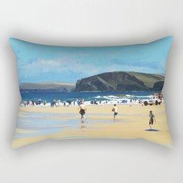 Harlyn Bay, Cornwall, Original Illustration  Rectangular Pillow