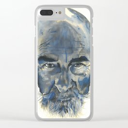 Old Man #002 Clear iPhone Case